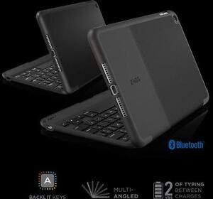 ZAGG - Slimbook Folio Keyboard for Apple® iPad® mini 4 - Black