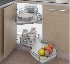 Kitchen Twin pull out shelving unit - left hand or right hand fit