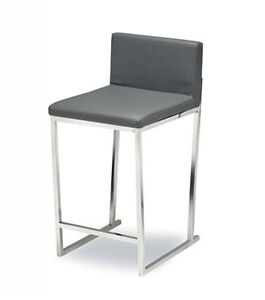 On Sale LEATHER N FABRIC BAR STOOLL KITCHEN COUNTER STOOL