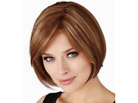 Highlighted Natural Look Bob Haircut Embrace Wig by Natural Image[Caramel Glow]+FREE WIG STAND!
