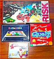 Games - Risk, Katamino, Quelf, Jok-R-Rummy, Magnetic Darts,