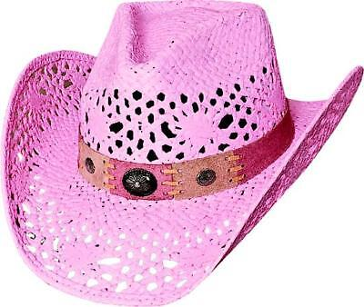 Pink Cowboy Hats (NEW Bullhide Hats 2534P Run A Muck Collection Pure Country Pink Cowboy)