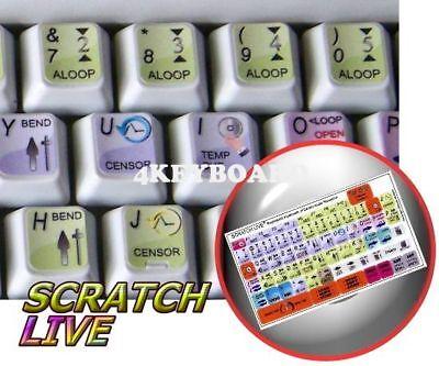 Serato Scratch Live keyboard sticker