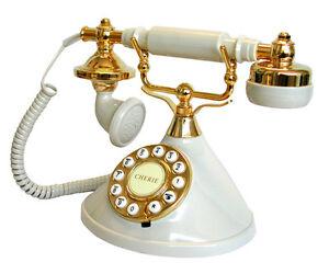 BRAND-NEW-MYBELLE-IVORY-383P-NOVELTY-RETRO-CORDED-PHONE-TELEPHONE