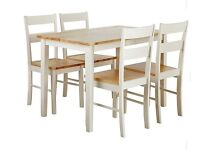 Shaker Style Two Tone Dining Table + 4 Chairs. *CAN DELIVER LOCALLY*