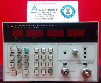 Hp-agilent-keysight 5343a Frequency Counter 10 Hz To 26.5 Ghz