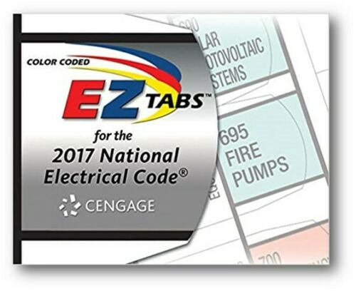 Color Coded EZ Tabs with EZ Formula Guide Based on 2017 NEC - Cengage Edition