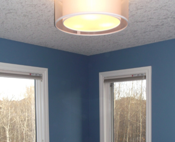 Popcorn Ceiling Texture Refinished to Knockdown @**$1.50 ...
