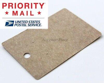 Wholesale 600pcs Small Blank Earrings Jewelry Display Card In Brown Kraft Paper
