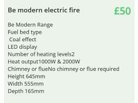 Be modern electric fire