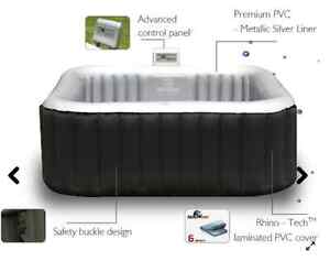 INFLATABLE HOT TUB 4+2 SQUARE MSPA LUXURY ALPINE LS SPA JACUZZI