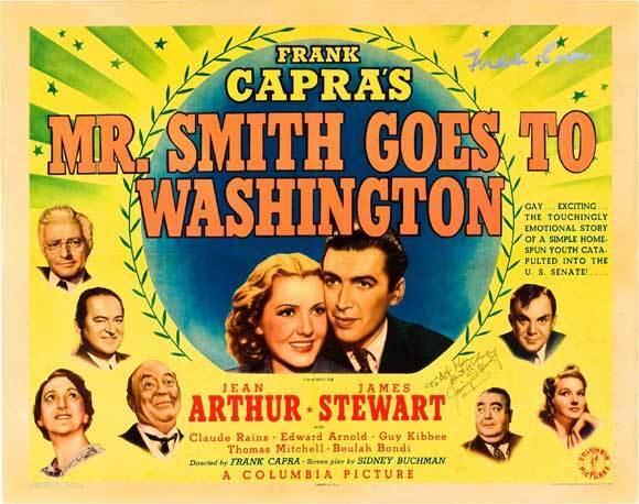 MR. SMITH GOES TO WASHINGTON Movie POSTER 22x28 Half Sheet James Stewart Jean