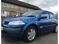 Blue Renault Megane 1.6 Dynamique VVT Automatic 5 doors,Only 67,977 miles, Good condition throughout