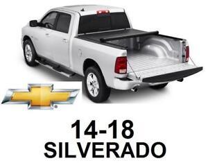 NEW* 14-18 SILVERADO TONNEAU COVER LR-1045 143103889 Lo-Roll Black Roll-Up Truck Tonneau Cover CHEVROLET