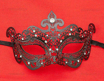 Mask from Venice Wolf Dea Luxury Venetian Lace Metal Black 406