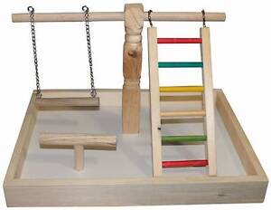 BIRD PLAY GYM/STAND - WOOD Brendale Pine Rivers Area Preview