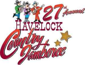 Two VIP Havelock Country Jamboree full weekend pass & camping