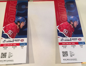 Montreal Canadiens vs Tampa Bay Lightning billets tickets