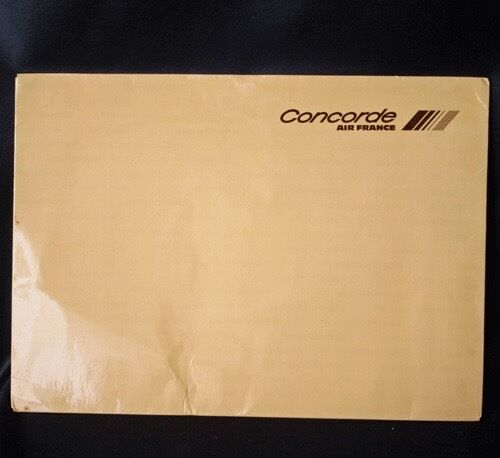 Vintage AIR FRANCE CONCORDE Stationery Folder