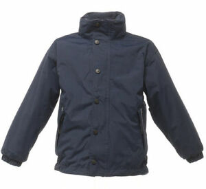 REGATTA-KIDS-TERM-TIME-WATERPROOF-REVERSIBLE-FLEECE-NAVY-BLUE-JACKET-TRA900