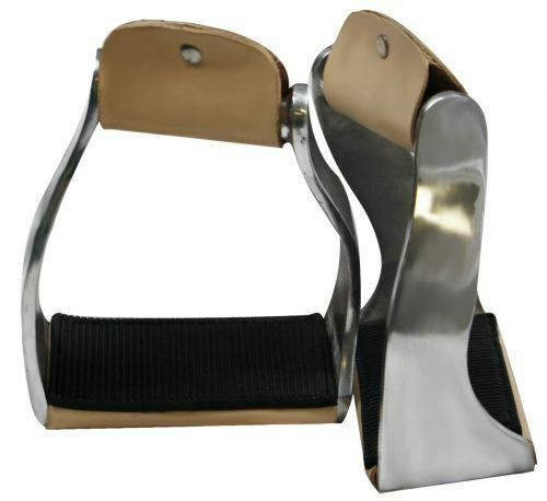 Showman Lightweight Twisted Angled Aluminum Stirrups w/ Rubber Tread! FREE SHIP!