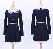 Navy Peter Pan Collar Dress