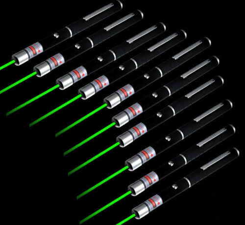 10X Military High Power 532nm Green Laser Pointer Pen Visible Beam Lazer Burning