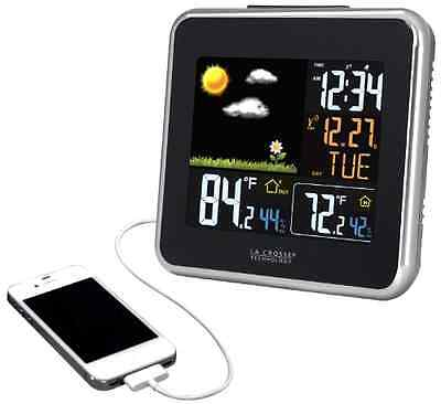 Atomic Wireless Color Forecast Station W  Dew Point Heat Index Usb Charging Port