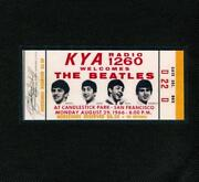 Beatles Ticket 1966