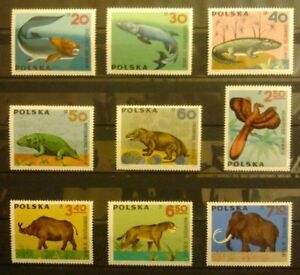 POLAND-STAMPS MNH Fi1506-14 SC1395-03 Mi1655-63 - Pets fossil - 1966, clean - <span itemprop=availableAtOrFrom>Reda, Polska</span> - POLAND-STAMPS MNH Fi1506-14 SC1395-03 Mi1655-63 - Pets fossil - 1966, clean - Reda, Polska