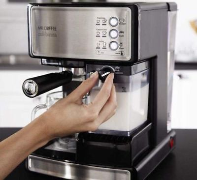 Mr.Coffee Café Barista Espresso Cappuccino Maker Unconscious Milk Frother Machine