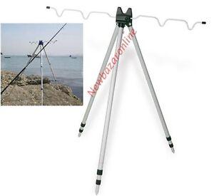 Supporto porta appoggia canna da pesca trepode telescopico - Porta canne da pesca ...