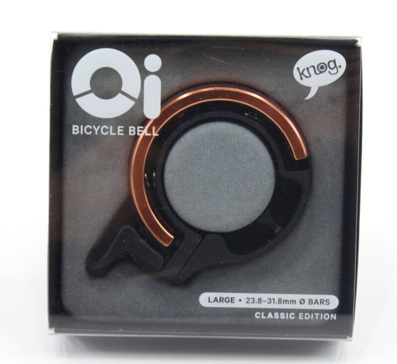 Knog Oi Classic Large Invisible Bicycle Copper Bell 23.8mm-31.8mm