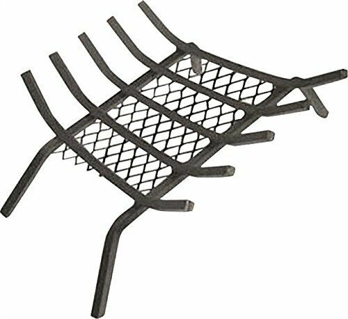 """Rocky Mountain Goods Fireplace Grate with Ember Retainer - 1/2"""" Heavy Duty 27"""""""