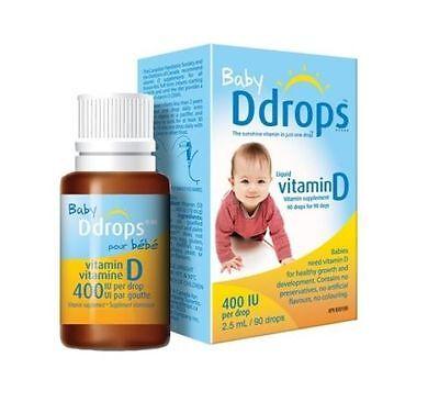 Ddrops Baby Liquid Vitamin D3 400 IU 2.50 mL (90 drops)