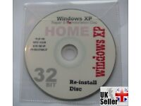 Windows XP, HOME Edition Repair Reinstall, Recovery Disc FREE POST