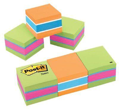 Post-it 2x2 Ultra Colors Convenient Memo Cubes - Repositionable Self-adhesive -