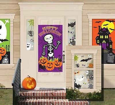 Kid Friendly Scene Setter Halloween Party wall decoration kit 33pc ghost pumpkin - Kids Halloween Party Decorations