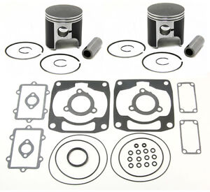2 SPI Pistons & Winderosa Gasket Kit Arctic Cat Mountain Cat 800 EFI 2001 2002