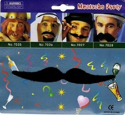 MENS ADULT MOUSTACHE TASH FACIAL HAIR 1970S FANCY DRESS COSTUME ACCESSORY (1970 Mens Hair)