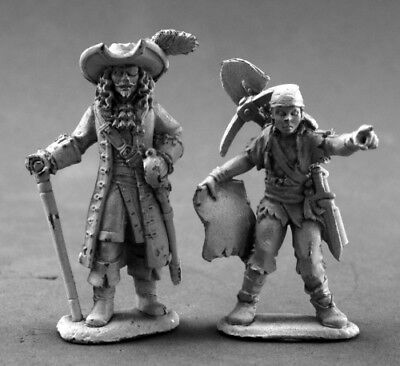 Reaper Miniatures Pirate Lord and Cabin Boy #03635 Dark Heaven Unpainted - Reaper Boy