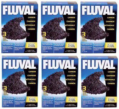 Fluval Carbon Bags - Hagen Fluval Carbon Nylon Bags BULK BOX 18 Bags (6 boxes x 3 Bags per box)
