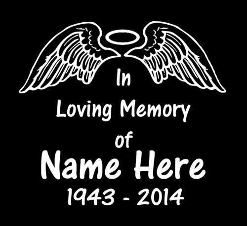 In memory of car decals ebay