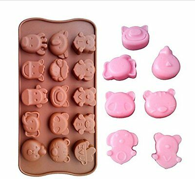 - Animal & Love Mold Shape Candy Ice cube Tray Chocolate DIY Barn Zoo I Love You