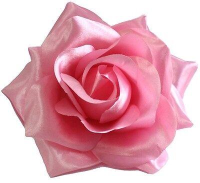 Light Pink Clip (60050 Light Pink Rose Hair Clip Sourpuss Rockabilly Retro Pinup Flower Barrette)