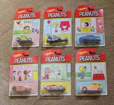 MINT 2017 Hot Wheels PEANUTS set of 6 Bone Shaker Purple Passion LUCY SNOOPY FS