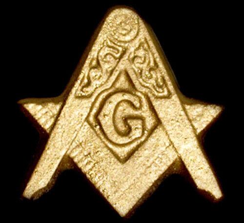 Freemason Masonic Lodge Symbol sculpture plaque Gold Finish