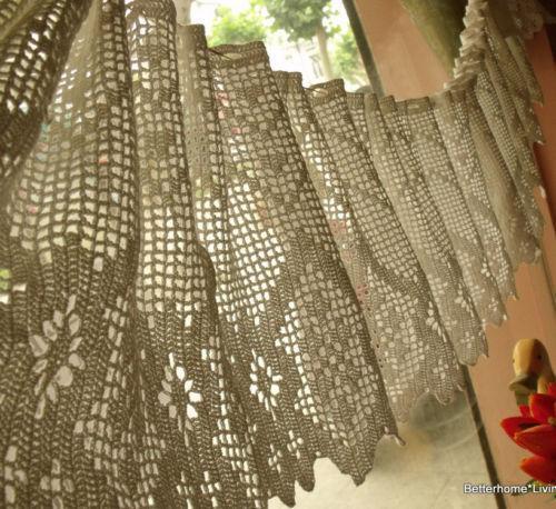 Crochet Lace Curtains Ebay