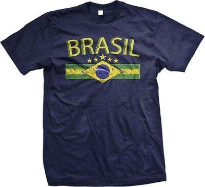 Brasil Brazil Brazilian Crest National Ethnic Pride World Cup - Men's T-shirt