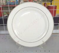 """8"""" Double Gold Rim Sublimation Ceramic Plate 001013"""